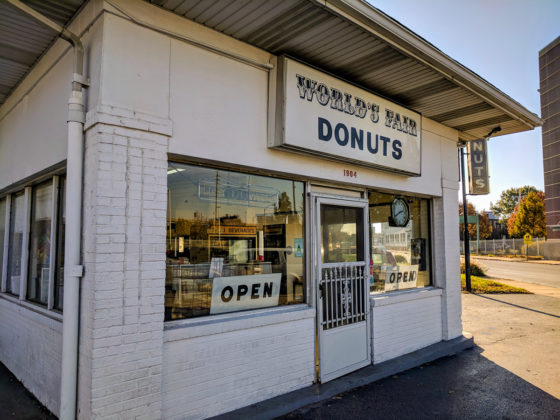 The outside of World's Fair Donuts in St Louis