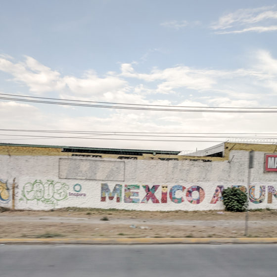 street art along the highway Mexico