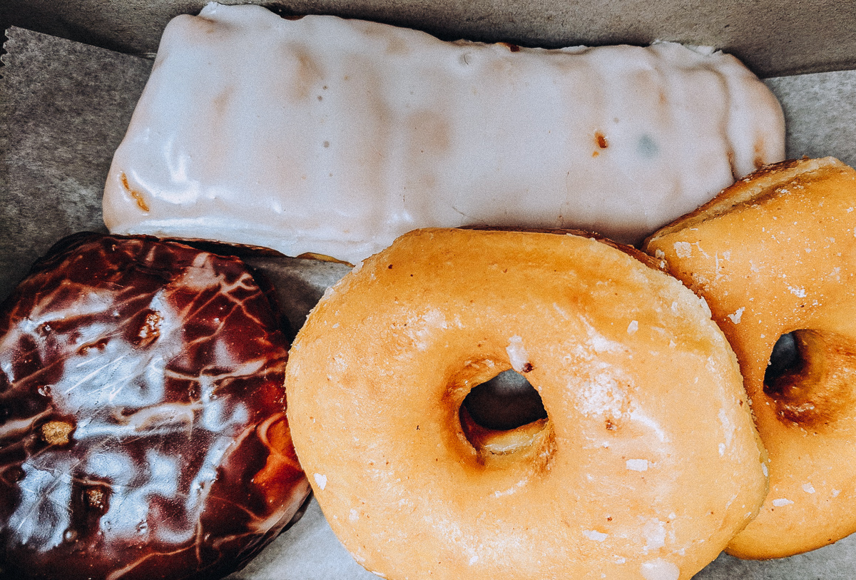 The donuts from Old Town Donuts in St Louis Missouri