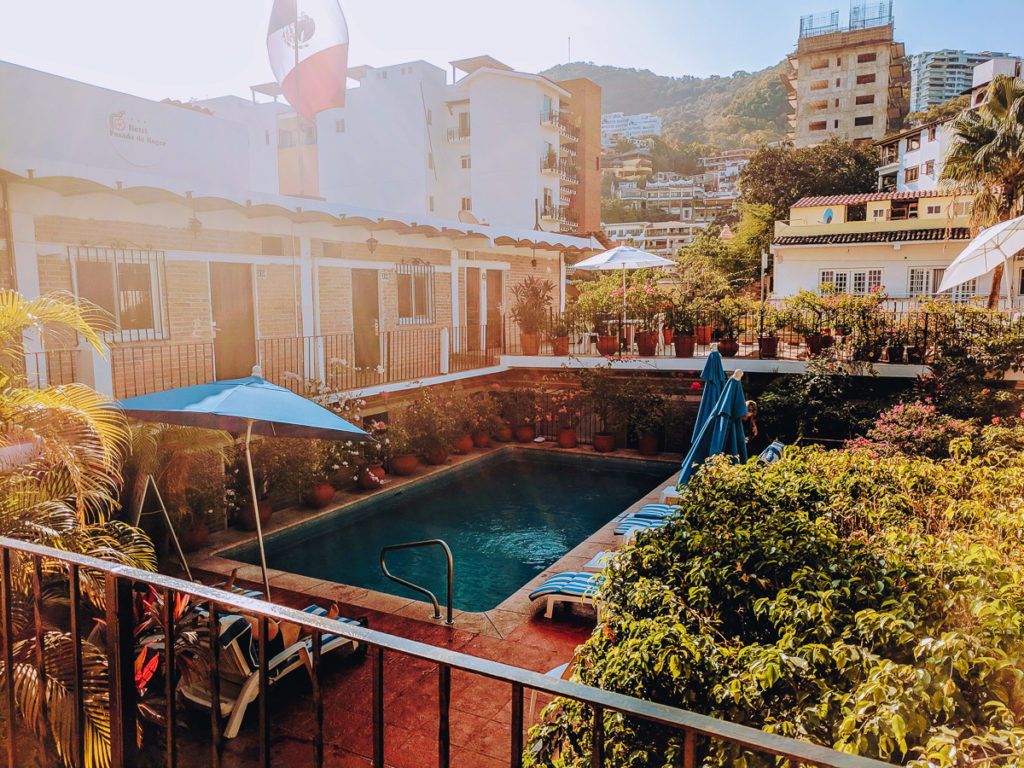 The pool at Hotel Posada de Roger in Puerto Vallarta