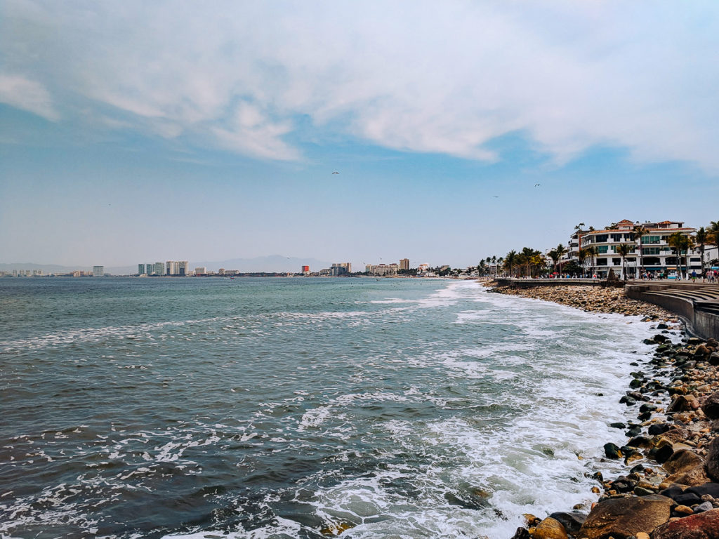 Walking along the malecon in Puerto Vallarta
