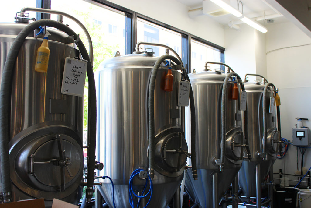 The vats at Ocmulgee Brewpub
