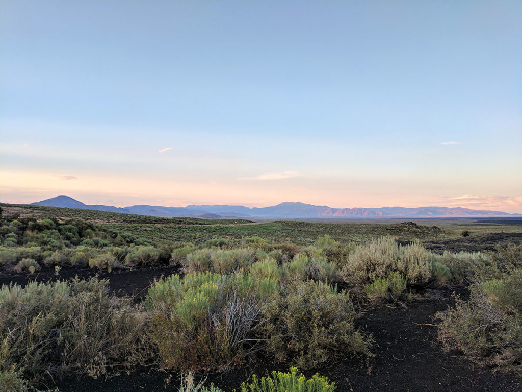 Sunset at Craters of the Moon National Monument