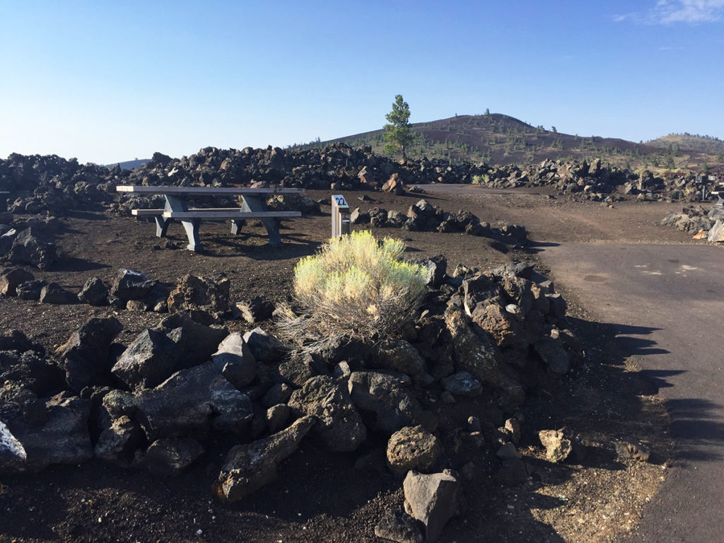 Campsite 22 in Craters of the Moon National Monument campground