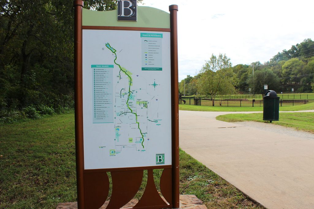 A nature trail in Bentonville, a great reason to visit Bentonville