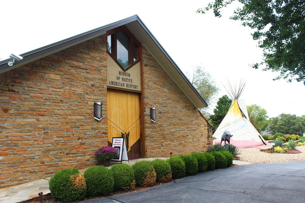 Museum of Native American History in Bentonville and a tee pee