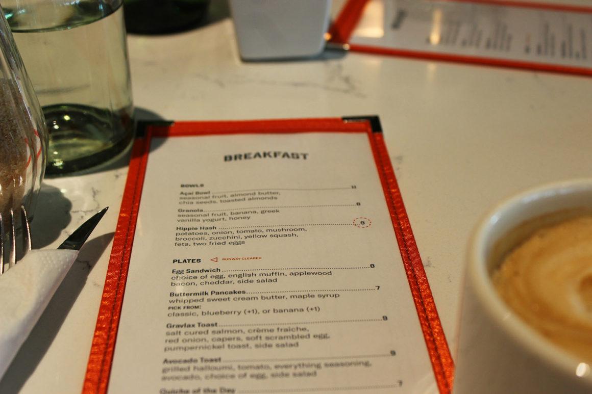 Menu at the Restaurant Louise