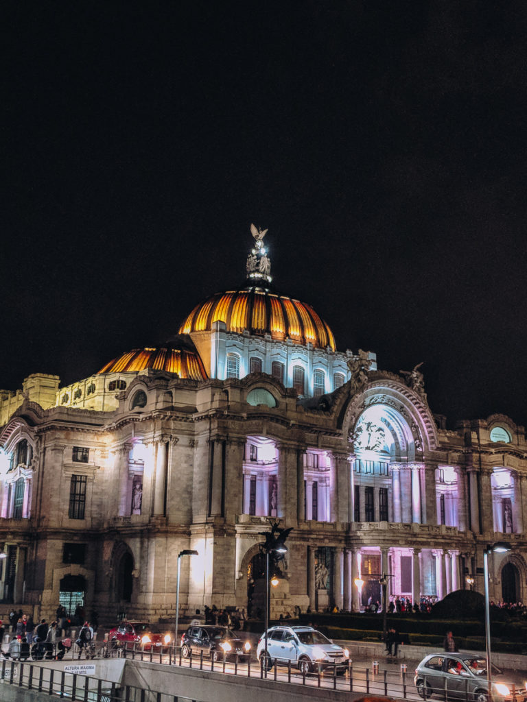 Front of the Bellas Artes in Mexico City