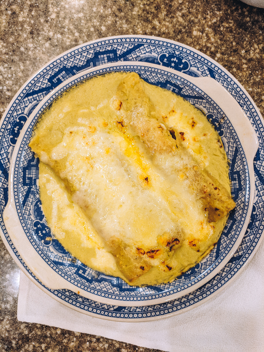 Enchilada Suizas at La Casa de Azulejos