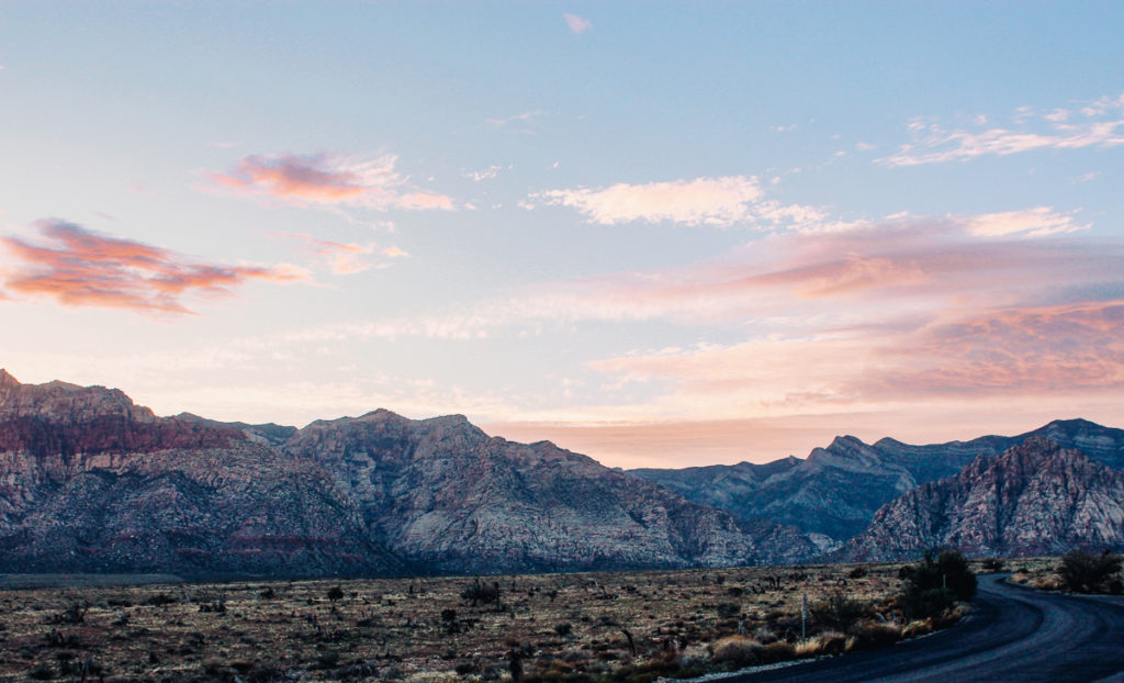 The hues and colors of Red Rock Conservation Area near Las Vegas