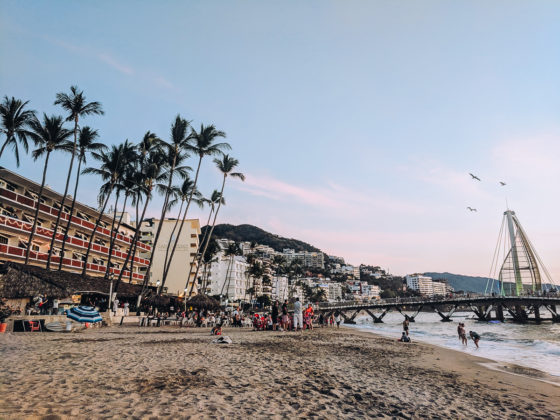 beach and view of the pier in Puerto Vallarta