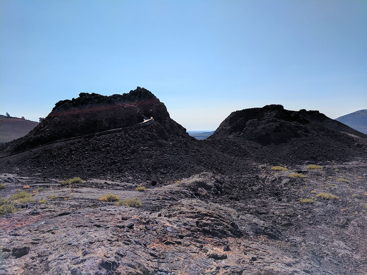splatter cones at Craters of the Moon national monument