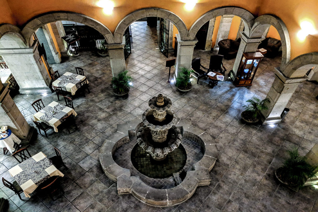 Courtyard of Hotel Morales in Guadalarjara
