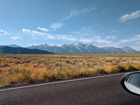a view of the Grand Teton mountains