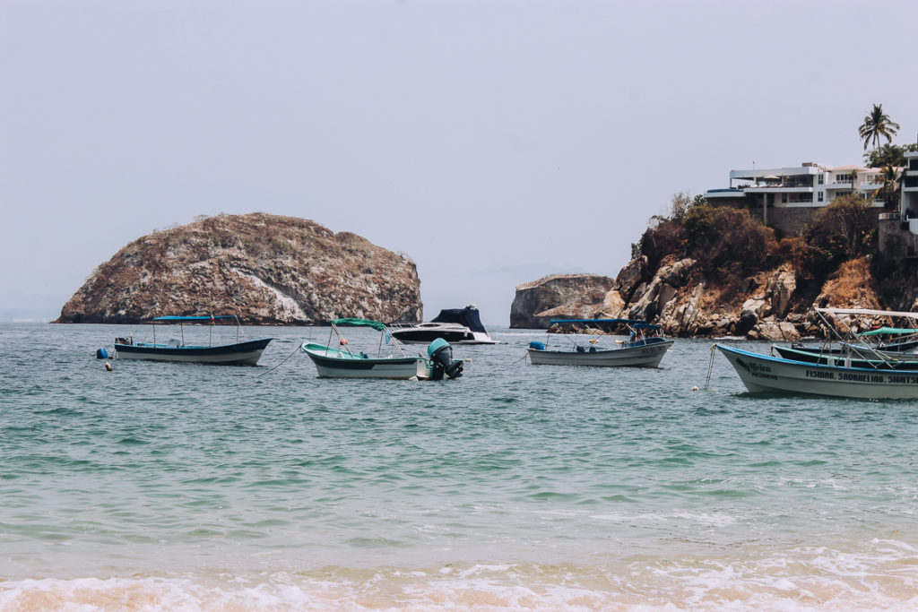 Boats in the water at Mismaloya