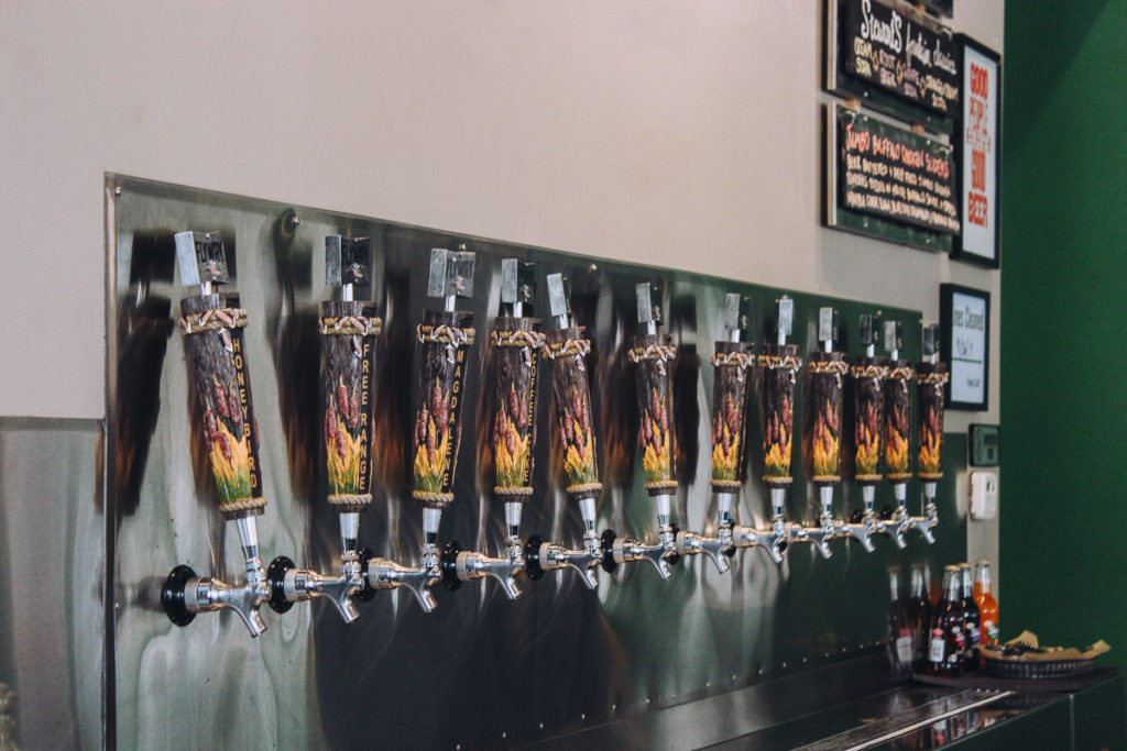 The beer pulls at Flyway Brewing Little Rock