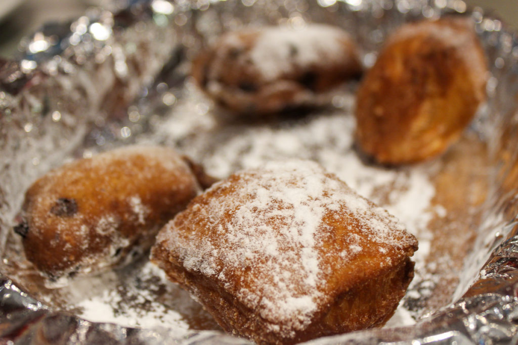 a plate of beignets at Rebel Kettle Brewing in Little Rock, Locally Labeled trail