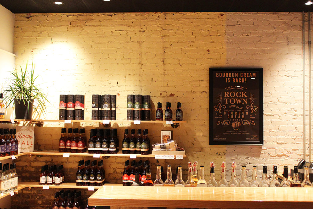 The tasting bar at Rock Town Distillery Little Rock part of Little Rock's Locally Labeled trail