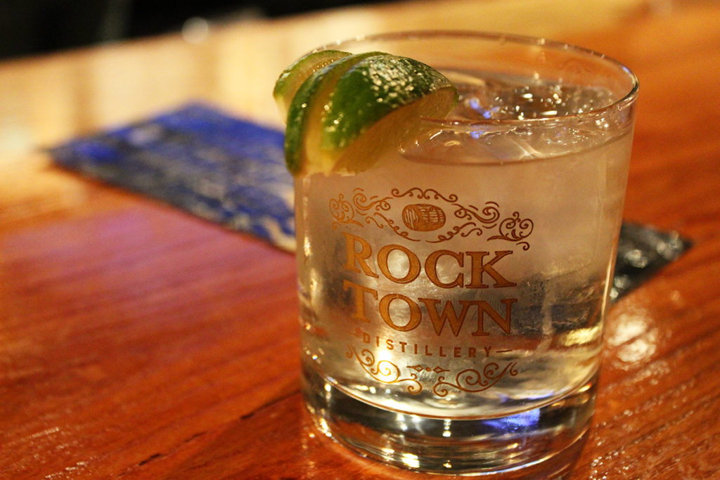 A vodka tonic at Rock Town Distillery Little Rock's Locally Labeled trail