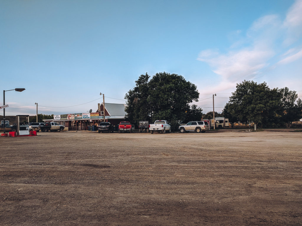 The Little Montana Truck Stop in Grass Range Montana