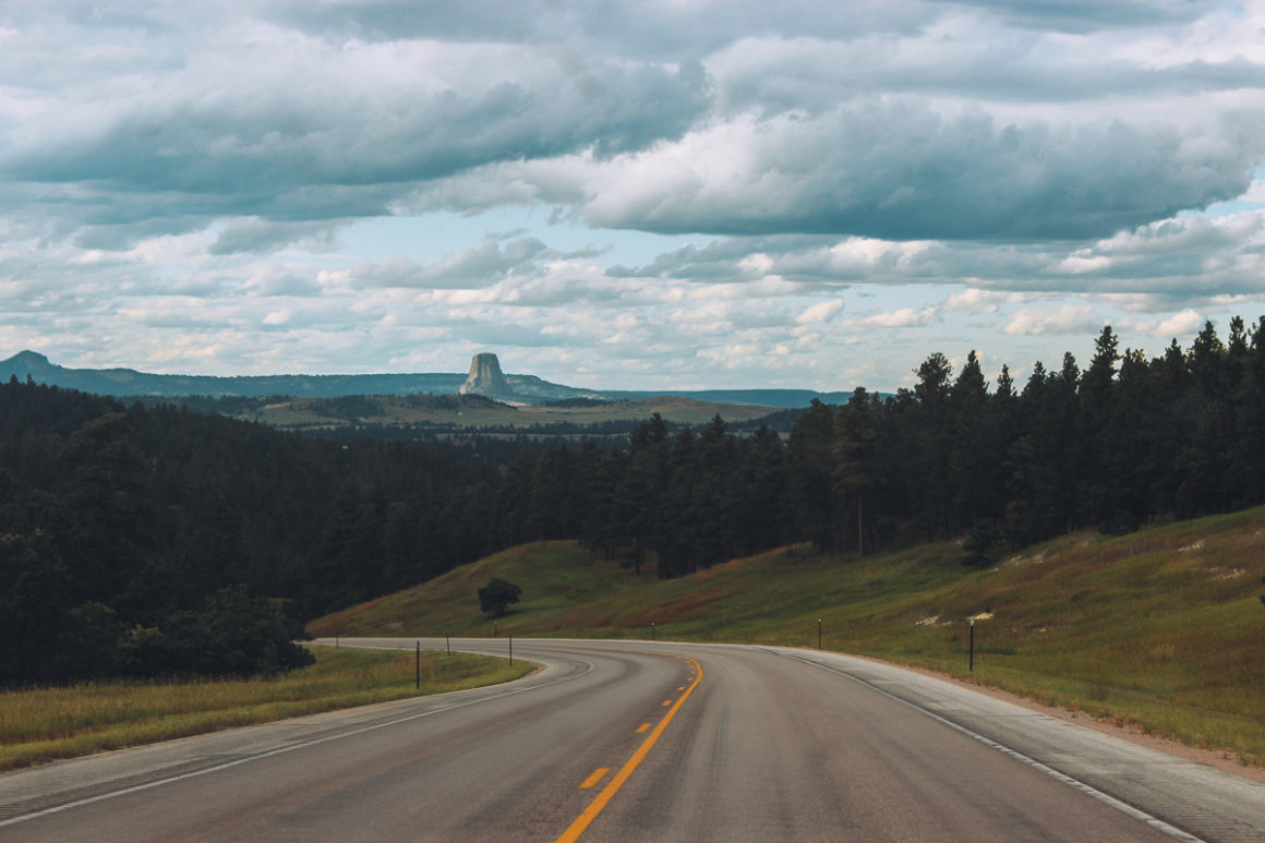 Road to Devil's Tower, WY