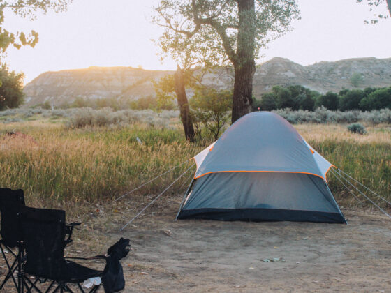 camping in the Cottonwood Campground inTheodore Roosevelt National Park