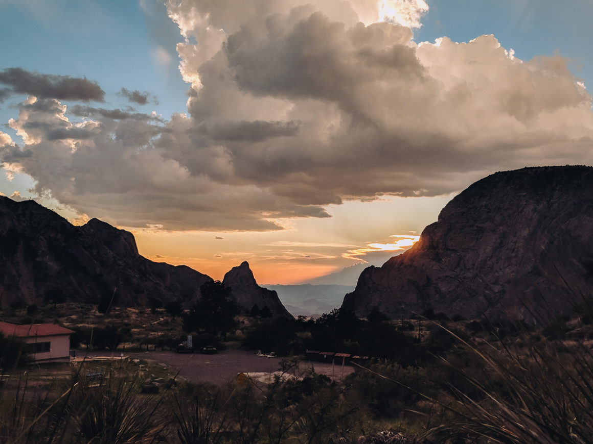 View from the deck of the Chisos Mountain Lodge in Big Bend National Park