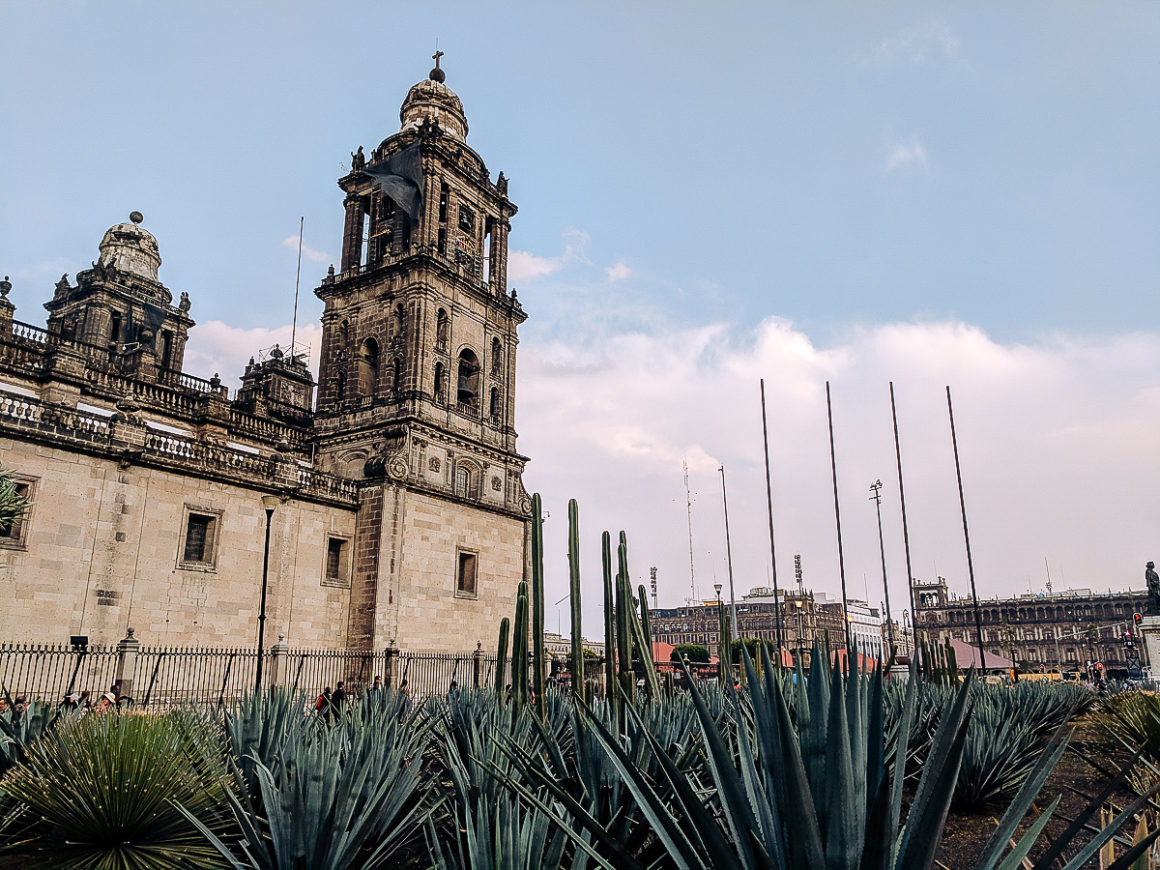 The cathedral in the Zocalo of Mexico City
