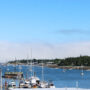 boats in the marina on Mt Desert Island, Maine
