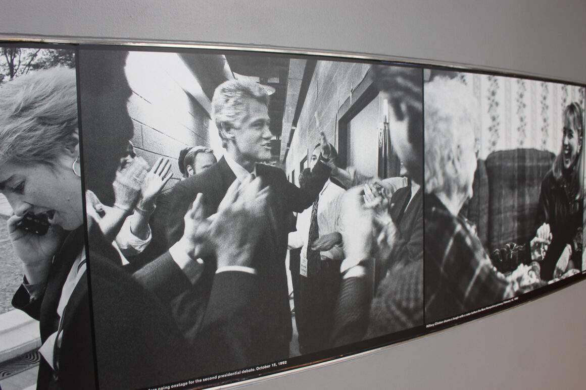 Some of the photos in the Clinton Library