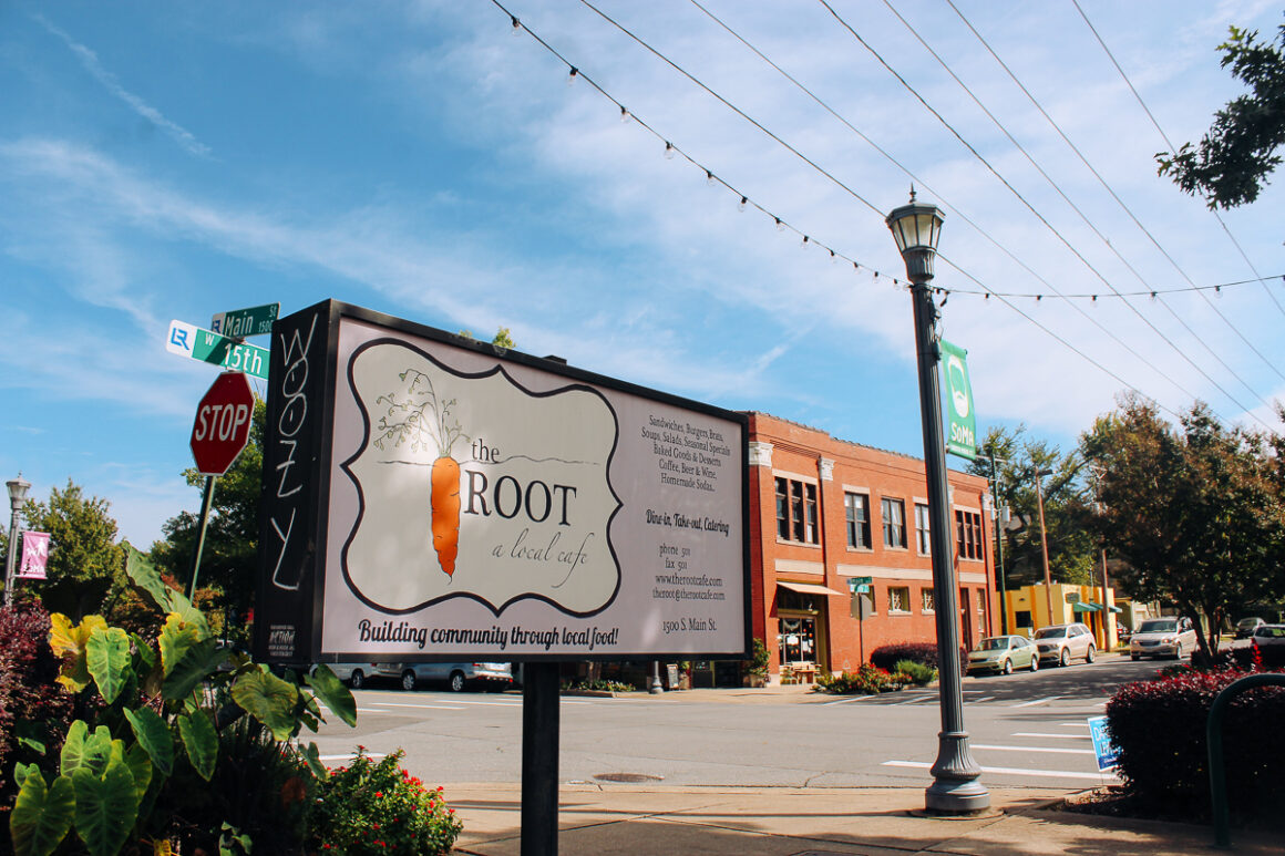The Root Cafe in Little Rock Arkansas in the SoMa neighborhood