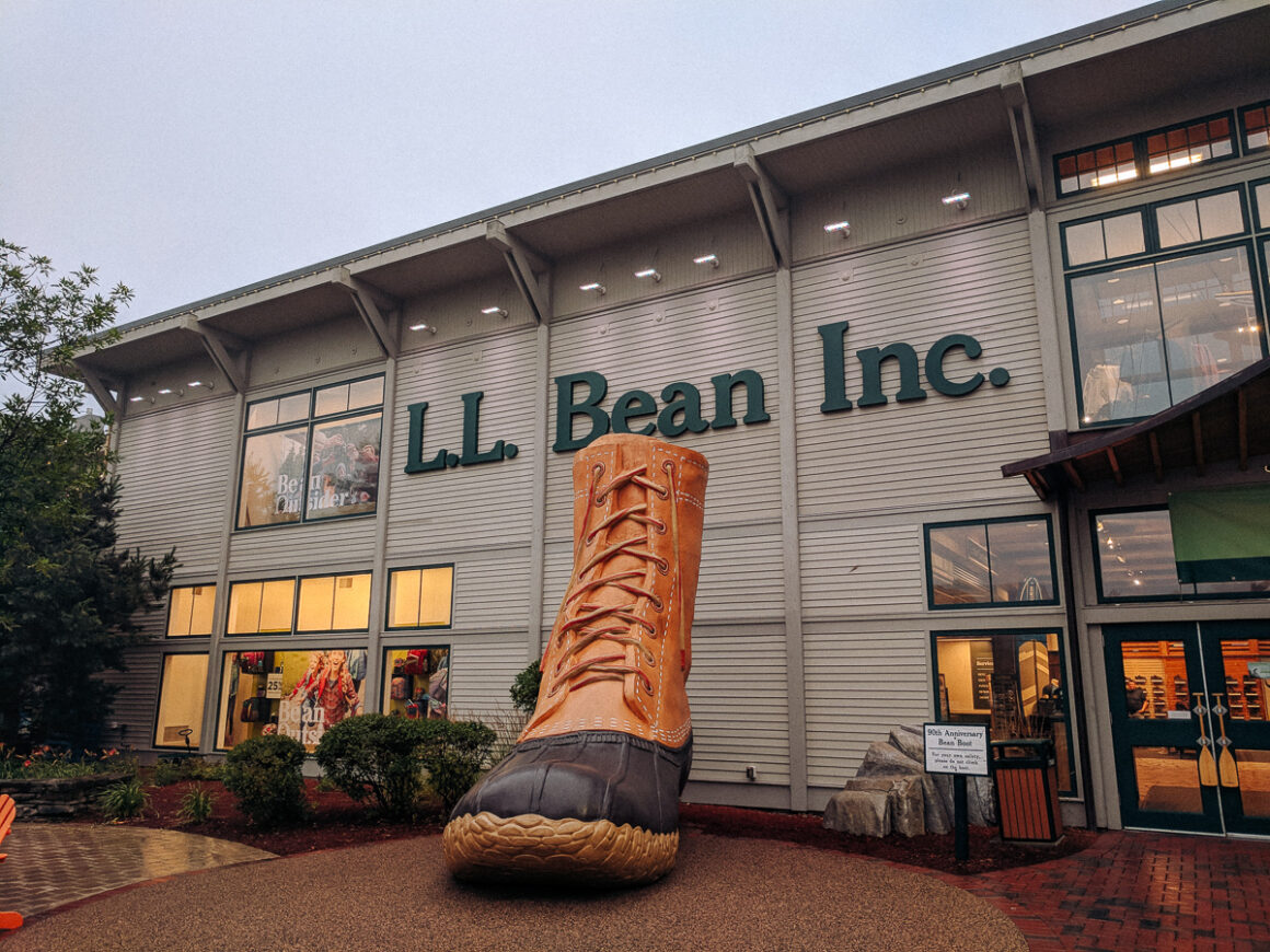 The big boot at LL Bean flagship store in Freeport, Maine