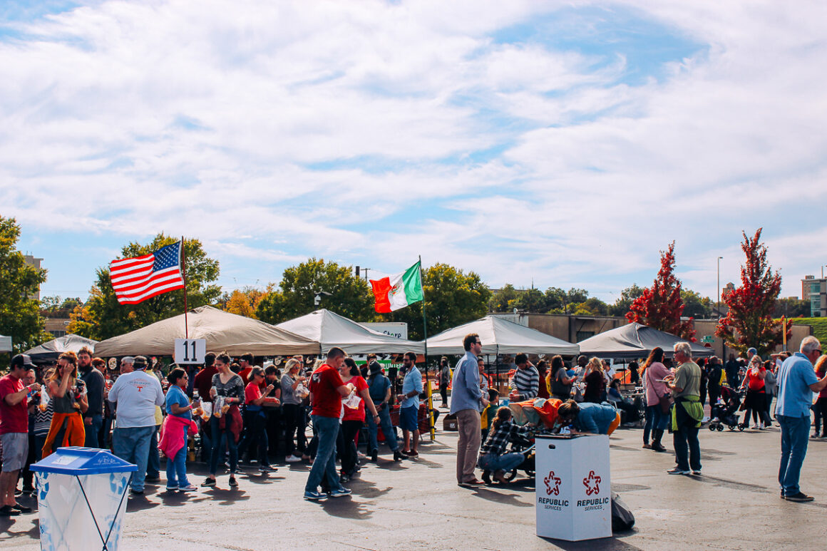 a photo of the crowd at the World Cheese Dip Championship Little Rock, Arkansas
