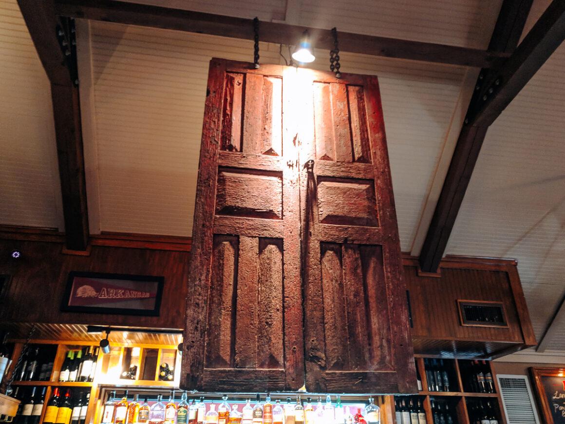 The namesake red door at the Red Door restaurant in Little Rock, Arkansas