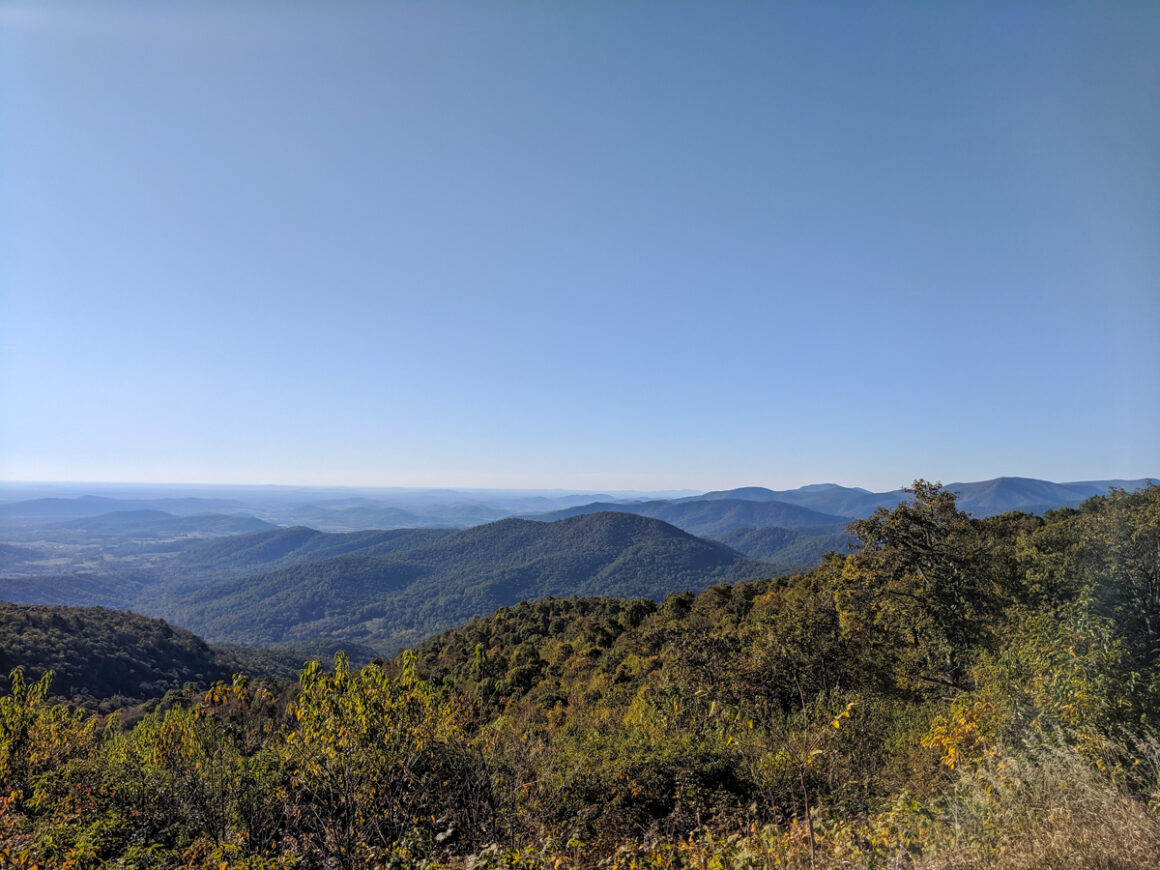 the overlook at Little Devil's staircase Shenandoah National Park, a national park to visit when you're short on time