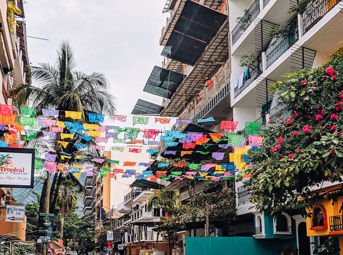 A streetview of the Romantic Zone in Puerto Vallarta