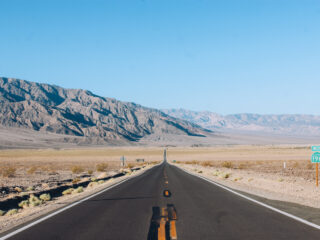 Hwy 190 in Death Valley National Park