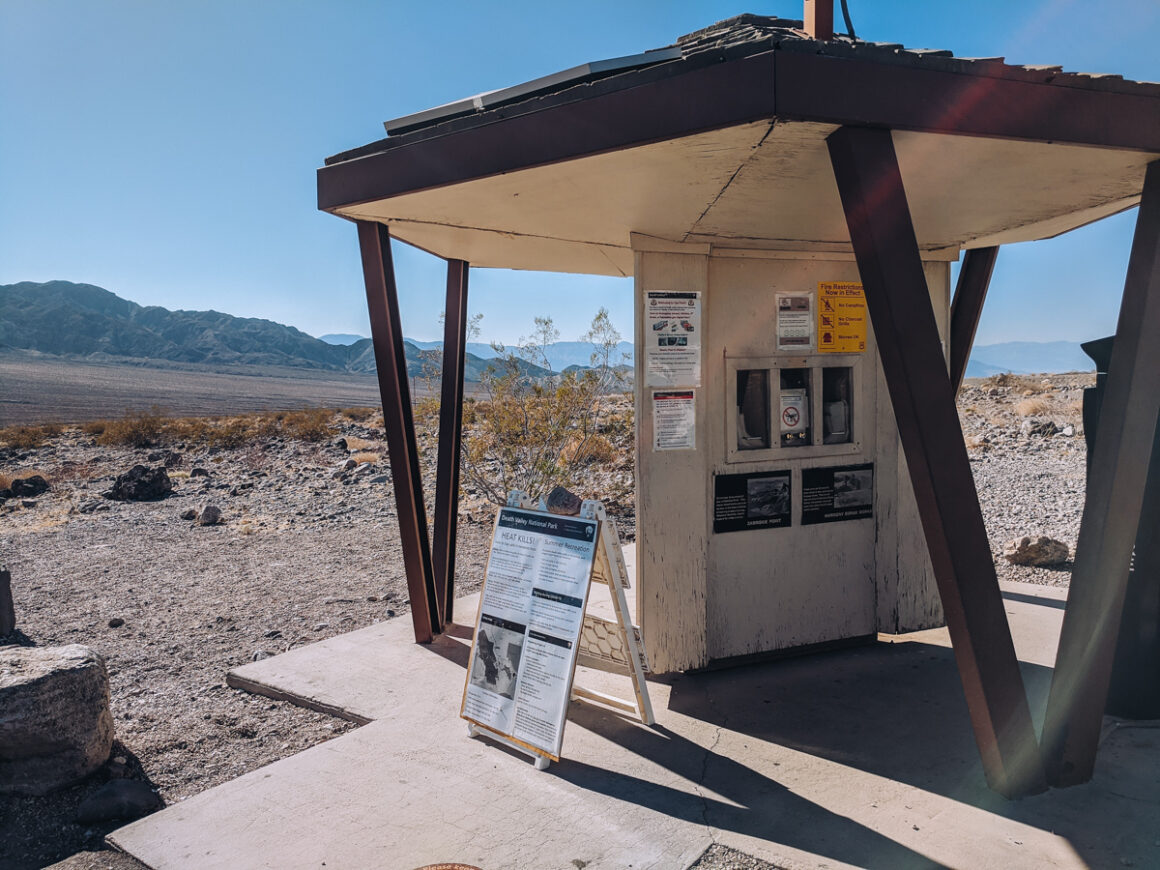 An entrance kiosk at Death Valley National Park