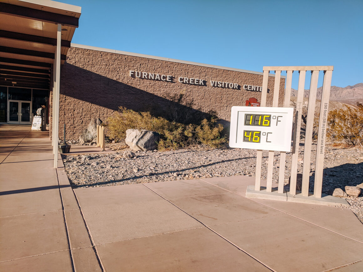 The Furnace Creek visitor center. A must when you visit Death Valley