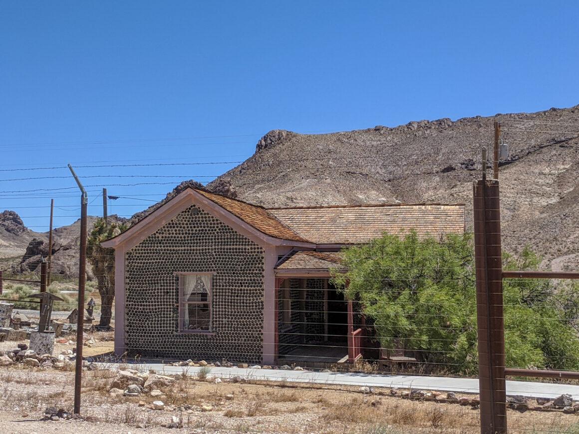 Tom Kelly's bottle house in Beatty, Nevada