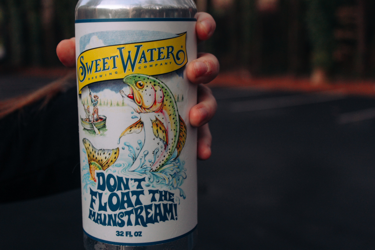 A can of Sweetwater beer at Sweetwater Brewing Atlanta