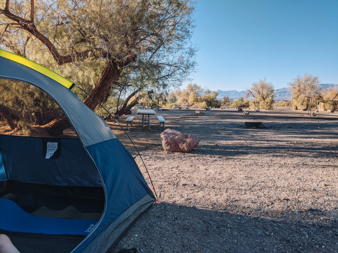campsite at Death Valley National Park